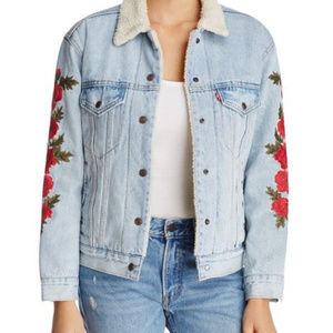 Levi's Ex-Boyfriend Sherpa Floral Denim Jacket